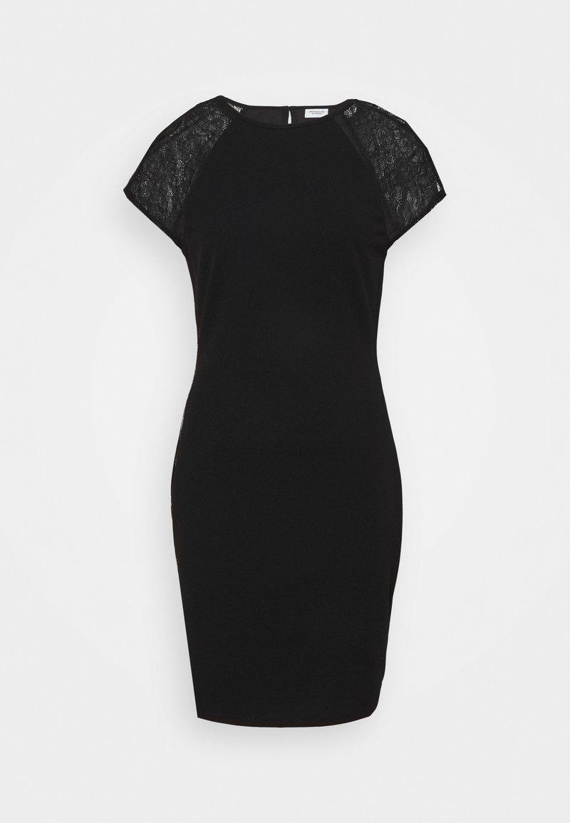 JDY - JDYBERNADETTE CAPSLEEVE DRESS - Pouzdrové šaty - black