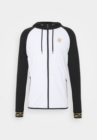 SIKSILK - SCOPE ZIP CONTRAST THROUGH HOODIE - Cardigan - black/white - 3