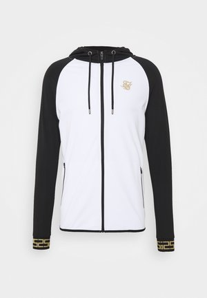 SCOPE ZIP CONTRAST THROUGH HOODIE - Kardigan - black/white