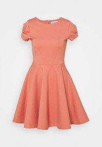 Closet - CAP SLEEVE SKATER DRESS - Day dress - dusty pink - 0