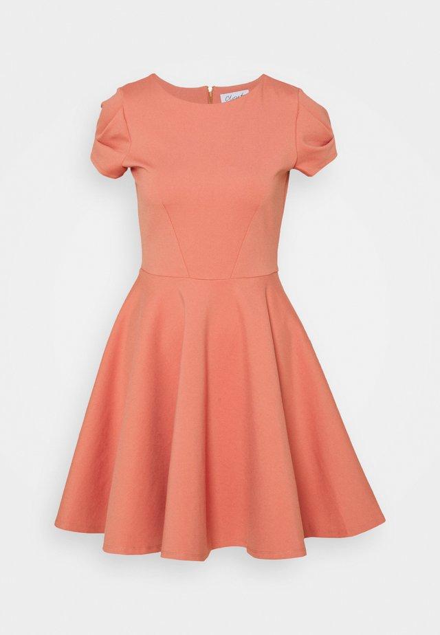 CAP SLEEVE SKATER DRESS - Korte jurk - dusty pink