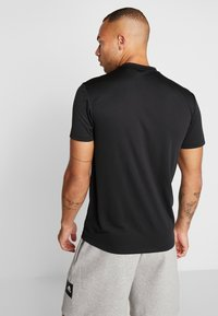 adidas Performance - AEROREADY TRAINING SLIM SHORT SLEEVE TEE - Print T-shirt - black - 2