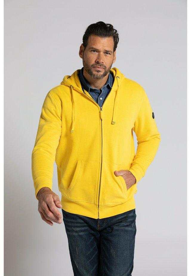 veste en sweat zippée - jaune céréales