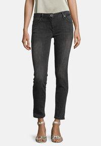 Betty Barclay - Slim fit jeans - dark grey used denim - 0