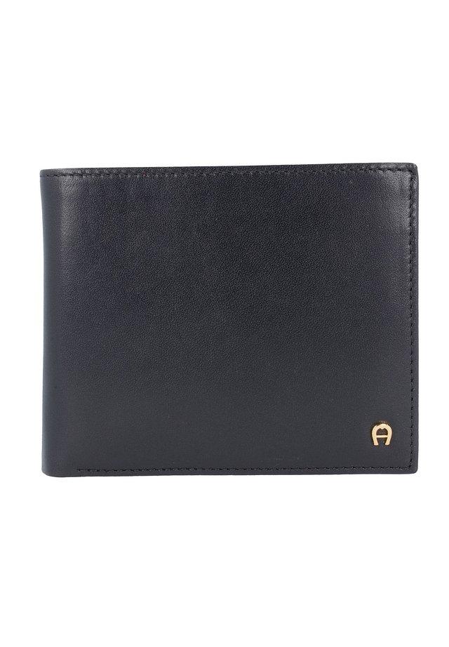 BASICS GELDBÖRSE LEDER 12 CM - Wallet - schwarz