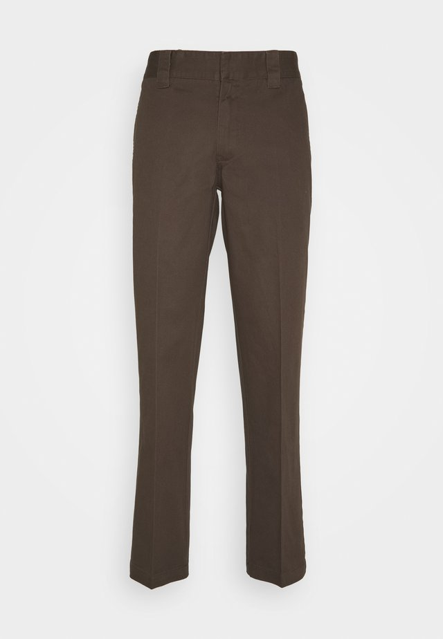DOT WORKPANTS - Trousers - chocolate