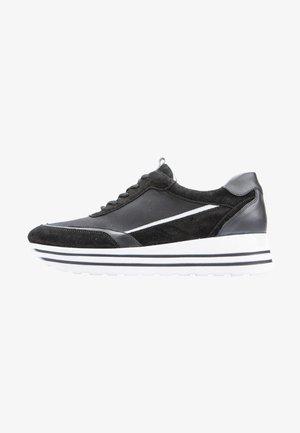 Sneakers laag - schwarz weiss ls.wei