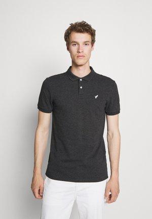 Polo shirt - mottled dark grey