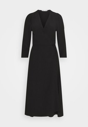 BRITT WRAP DRESS - Korte jurk - black