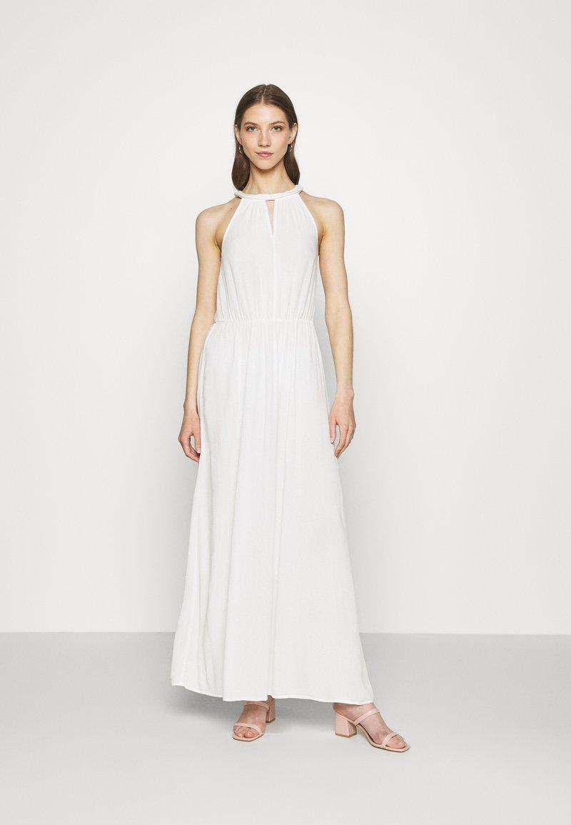 Vila - VIMESA BRAIDED DRESS - Maxi šaty - snow white