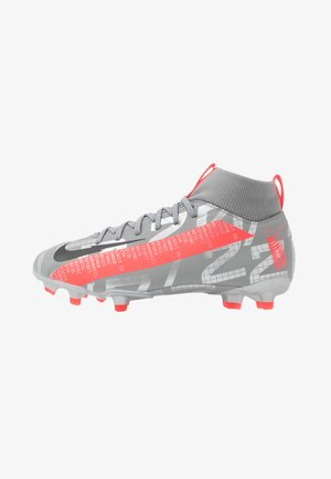 MERCURIAL JR 7 ACADEMY FG/MG UNISEX - Kopačky lisovky - metallic bomber grey/black/particle grey