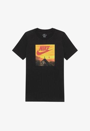 PHOTO - T-shirt con stampa - black