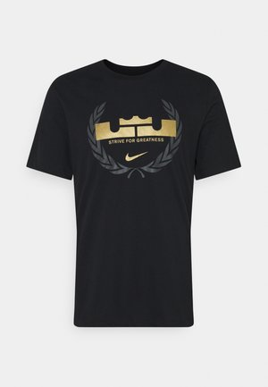 LEBRON JAMES DRY TEE LOGO - Camiseta estampada - black