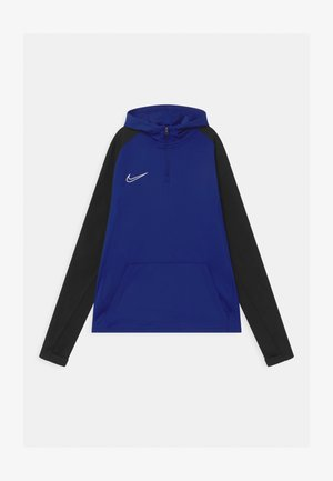 ACADEMY DRIL HOODIE - Long sleeved top - deep royal blue/black/white
