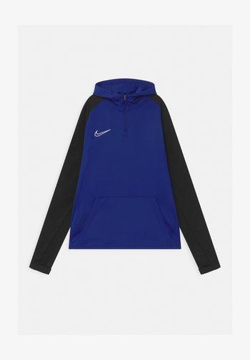 ACADEMY DRIL HOODIE - Sports shirt - deep royal blue/black/white