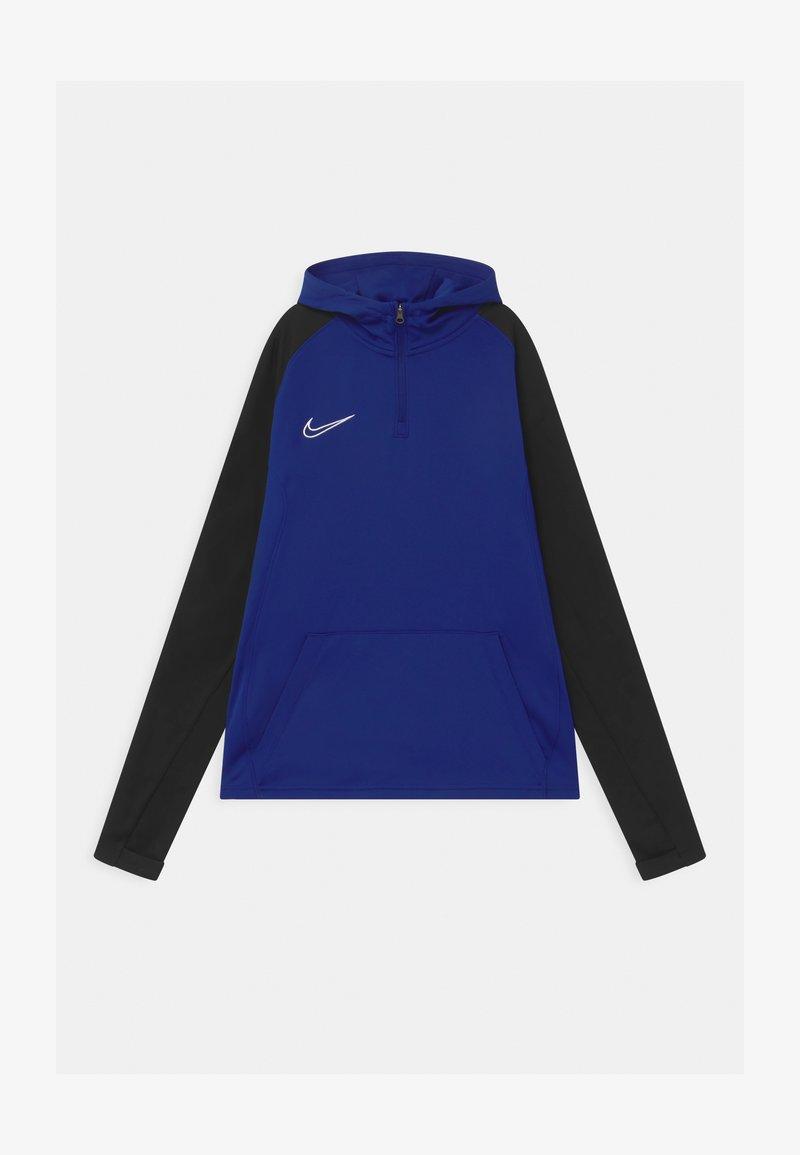 Nike Performance - ACADEMY DRIL HOODIE - Sports shirt - deep royal blue/black/white