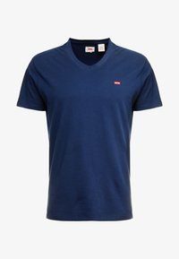 Levi's® - VNECK - T-shirt med print - dress blues - 3