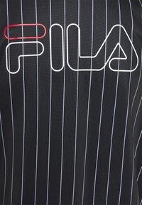 Fila - JAIMI PINSTRIPE TRACK JACKET - Training jacket - black/bright white - 2