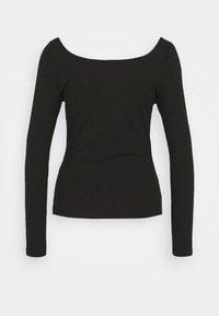 Vila - VILANA SQUARE NECK - Long sleeved top - black - 7