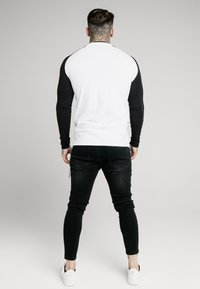 SIKSILK - SQUARE HEM TEE - Longsleeve - black/white - 2