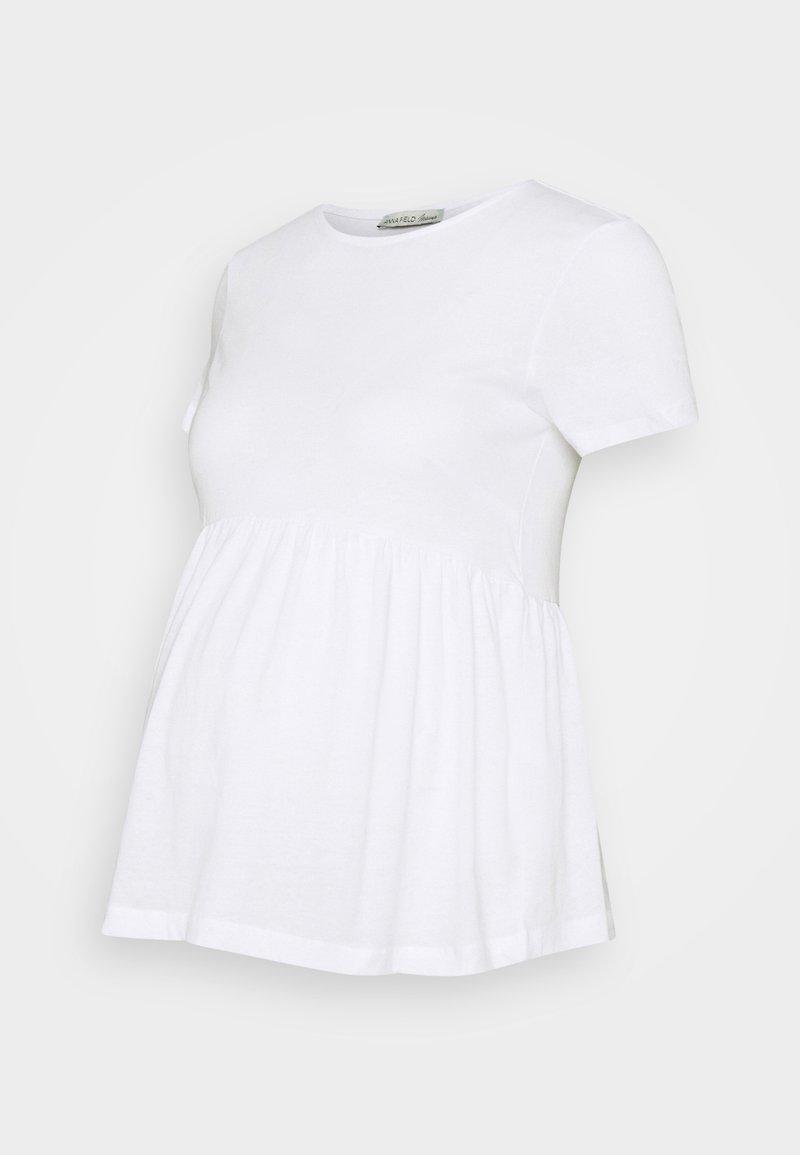 Anna Field MAMA - Print T-shirt - white