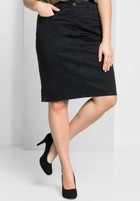 Sheego - Denim skirt - schwarz - 0