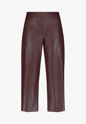 Pantalones - dark chestnut