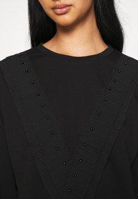 JDY - FAYA L/S FRILL - Sweatshirt - black - 4