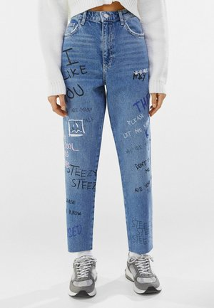 MIT PRINT  - Relaxed fit jeans - blue denim