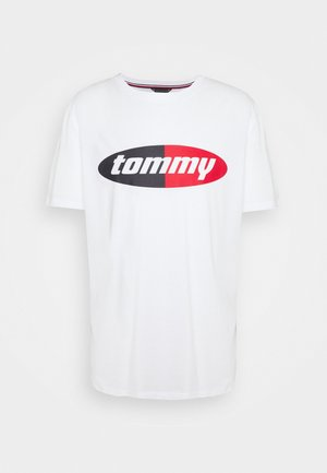 TOMMY SOLID LOGO CREW NECK TEE - Pyjama top - white