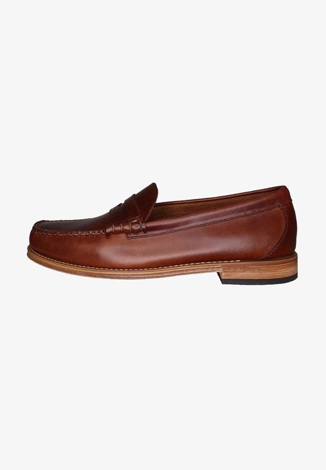 Slip-ons - dark brown leather