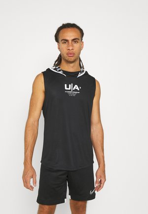 FOOTBALL SLEEVELESS HOODY - Top - black