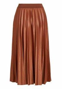 Vila - Pleated skirt - tobacco brown - 5