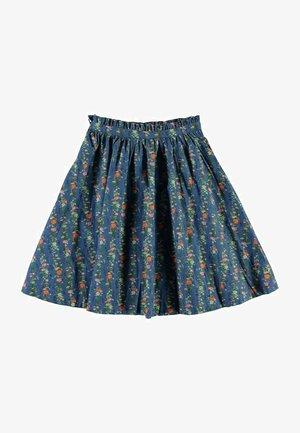 BRISANI - A-line skirt - vertical flora mini