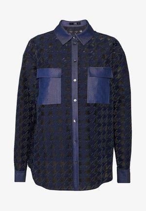 BLOUSE - Button-down blouse - blue