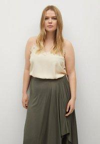 Violeta by Mango - ELSA - A-line skirt - khaki - 3