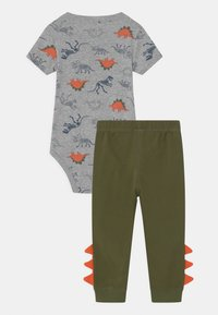 Carter's - DINO SET - Print T-shirt - khaki/grey - 1