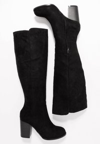 Nly by Nelly - BLOCK KNEE HIGH BOOT - Boots - black - 3