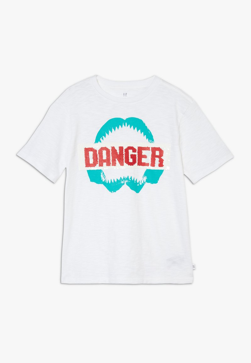 GAP - BOY FLIPPY TEE - Camiseta estampada - white