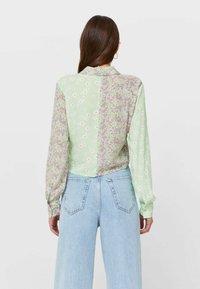 Stradivarius - Button-down blouse - mint - 2