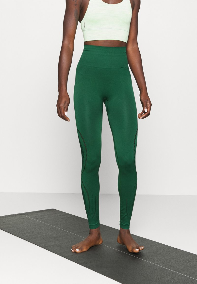 Even&Odd active - SEAMLESS - Leggings - green