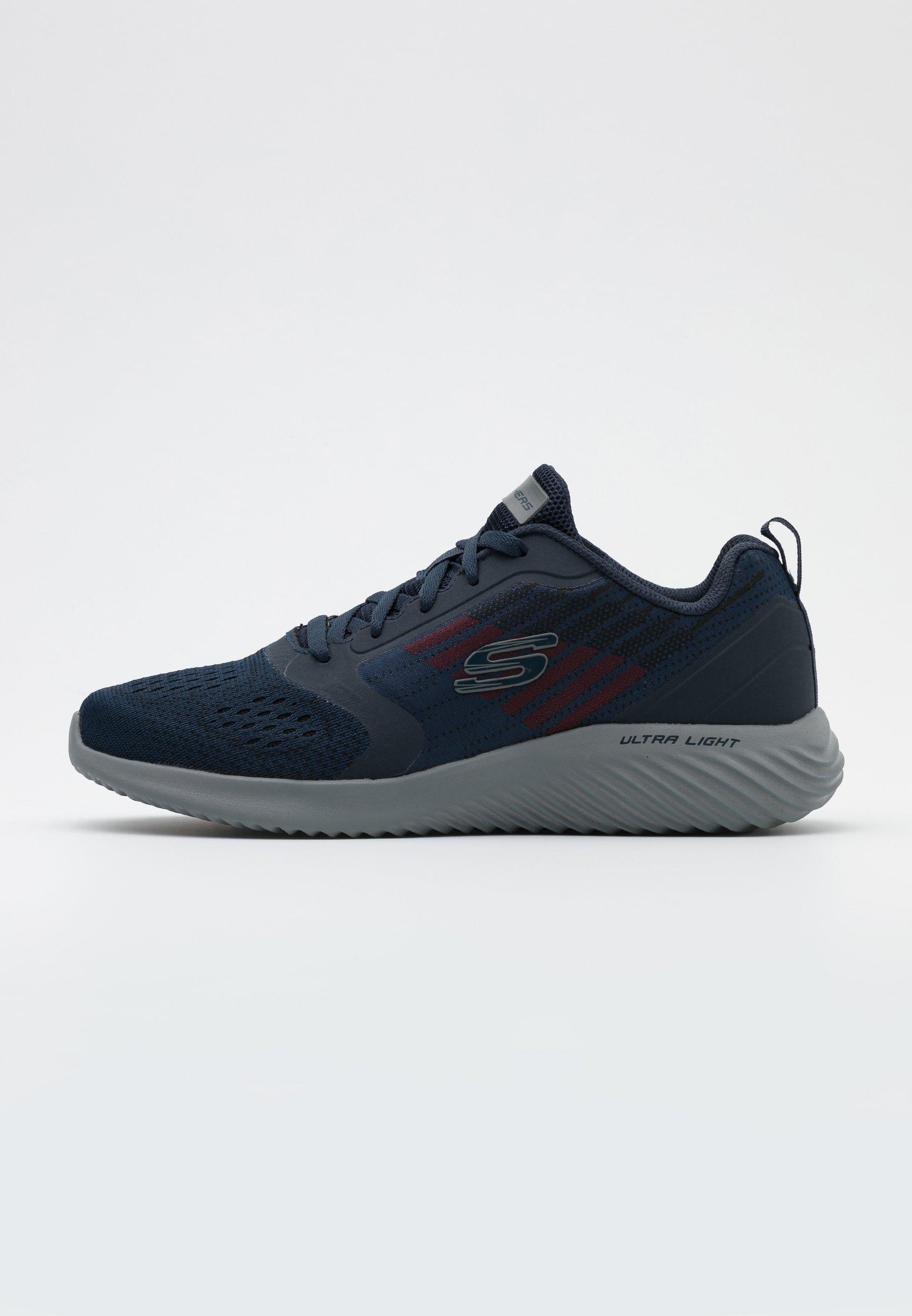 Artístico Aprobación Creación  Skechers Sport BOUNDER - Trainers - navy/charcoal/dark blue - Zalando.ie