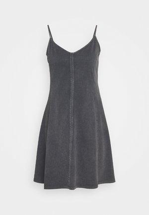 DYED ACID WASH - Jersey dress - black