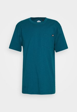 PORTERDALE POCKET - T-shirts basic - coral blue