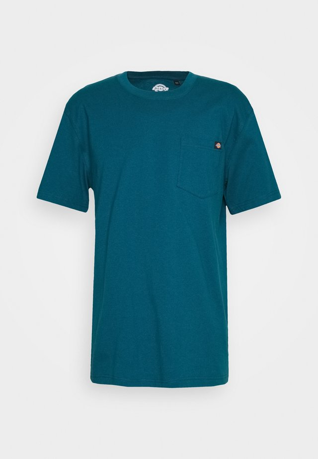 PORTERDALE POCKET TEE - T-shirt basic - coral blue