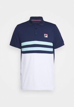 NELIO - Polo shirt - peacoat blue/white