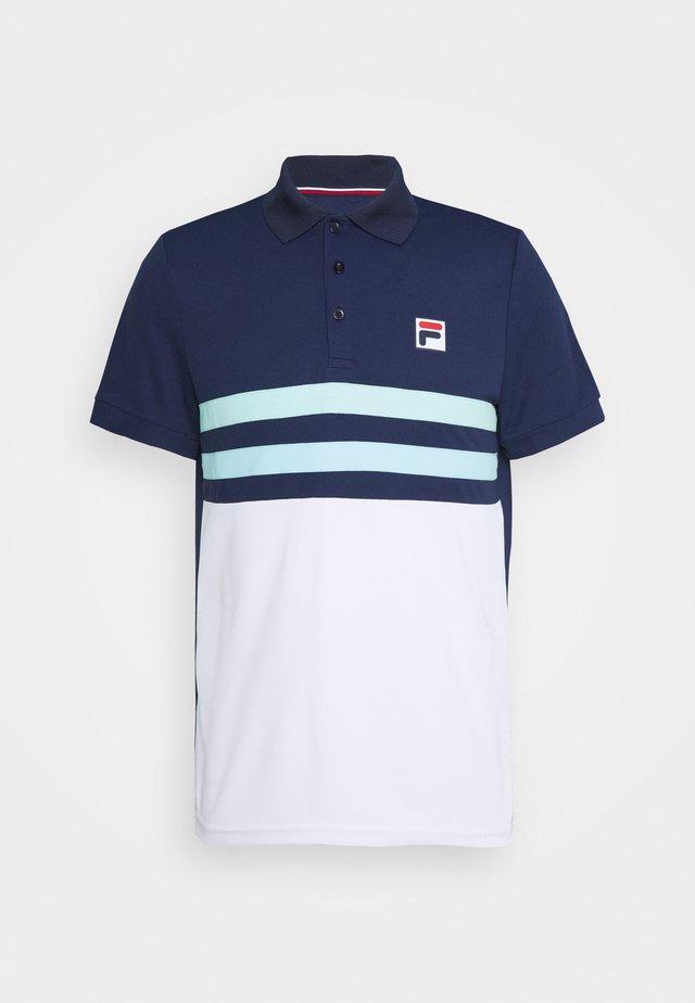 NELIO - Polo - peacoat blue/white