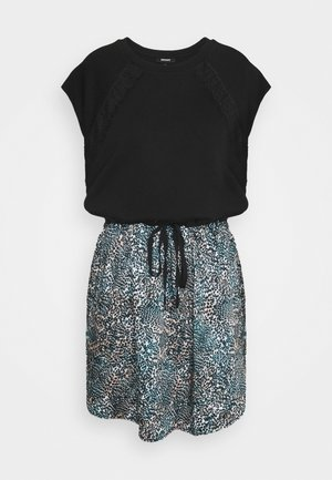 Robe d'été - black/gemstone/ivory/multi
