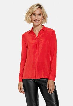 LANGARM - Button-down blouse - chili