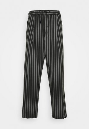 PIN STRIPE  - Trousers - black